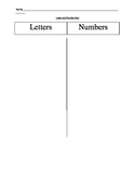 Letter and Number Sort (variety of 10 letters and numbers)