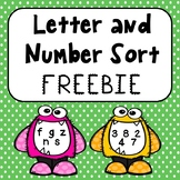 Letter and Number Sorting Activity  FREEBIE!