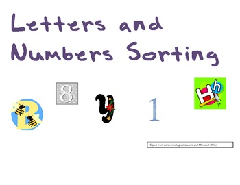 Letter and Number Sorting fun