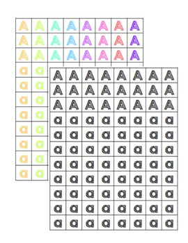 Letter and Number Tiles/Manipulatives - Colour + B&W