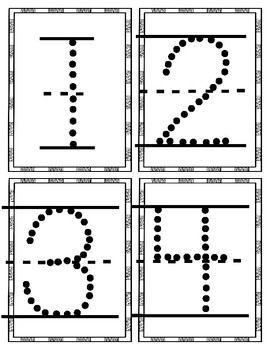 Letter and Number Trace and Wipe Cards
