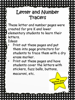 Letter and Number Tracers