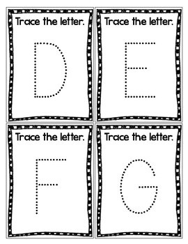 Letter and Number Tracing Cards