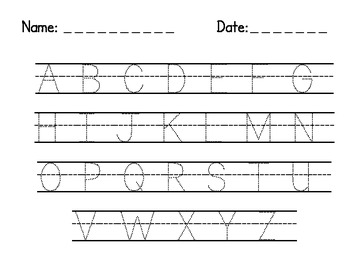 Letter and Number Tracing Freebie