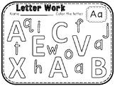 Letter and Number Work BUNDLE