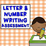 Letter and Number Writing Assessment (Three Versions)