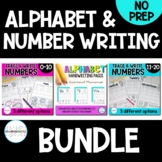 Alphabet Letter and Number Writing Practice Pages BUNDLE   Distance Learning