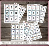 Letter and Number flash cards: Matching cards