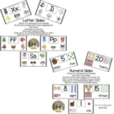Letter and Numeral Slides for Distance Teaching
