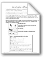 Letter and Picture Cards: A
