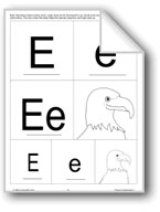 Letter and Picture Cards: E