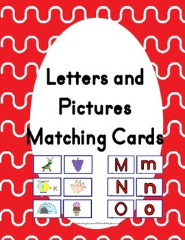 Letter and Pictures Matching Cards