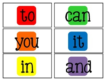 Letter and Sight Word Candyland Cards