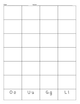 Letter and Sight Word Graph