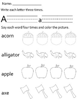 Letter and Sound Activity Worksheets