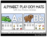 Letter and Sound Alphabet Play-Doh Mats (Zoo Phonics Animals)