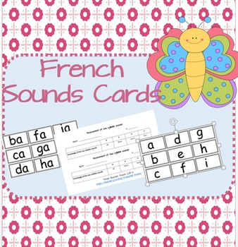 French Letter and Sound Cards