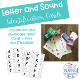 Letter and Sound Identification Assessment Cards