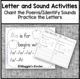 Letter and Sound Identification, Handwriting Practice, and Alphabet Chant Poems