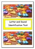 Letter and Sound Identification Kindergarten test