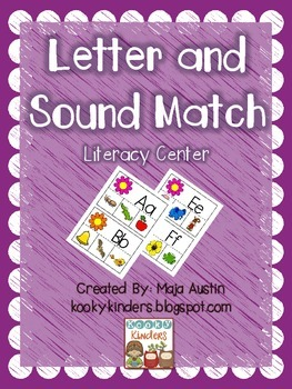 Letter and Sound Match-Literacy Center