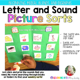 Letter and Sound Picture Sorts - Alphabet, Digraphs and Bl