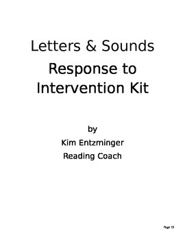 Letter and Sound RTI Kit