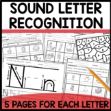 Letter formation and Letter Sound Recognition   DISTANCE LEARNING Printable