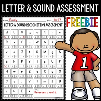Letter and Sound Recognition Assessment FREEBIE!