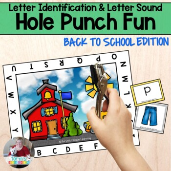 Letter Identification and Sound Recognition- Back to School Hole Punch Fun