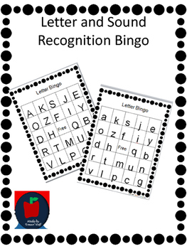 Letter and Sound Recognition Bingo