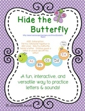 Letter and Sound Recognition: Hide the Butterfly Game for Preschool Kindergarten