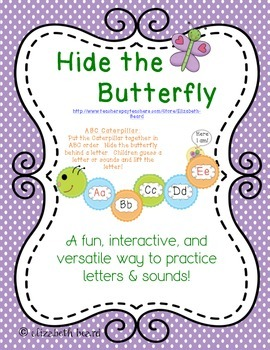 Letter and Sound Recognition: Hide the Butterfly Game for