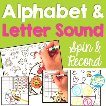 Letter and Sound Recognition Spinners {Phonics Literacy Center}