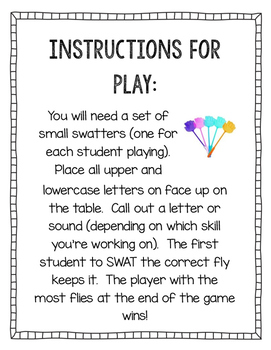 Letter and Sound SWAT