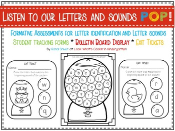 Kindergarten Alphabet Exit Tickets and Student Tracking Forms | TpT