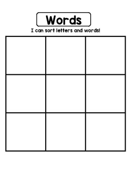 Letter and Word Sort