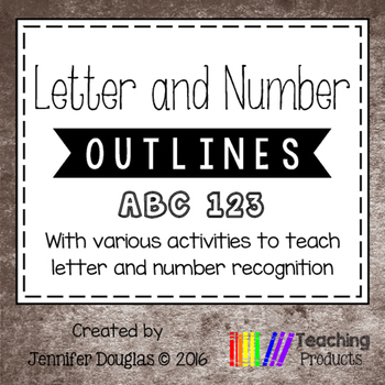 Letter and Number Outlines