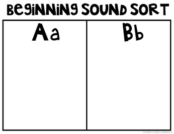 Letter and sound sorting activity