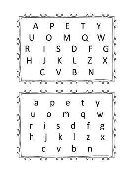 Letter and sounds identification assessment