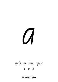 Letter and their Sounds NSW Foundation Style (ants on the apple a,a,a)