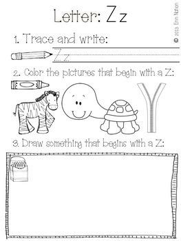 Letter by Letter {Beginning Letter Sounds Practice Sheets}