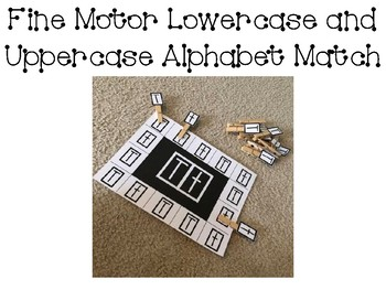 Letter c Uppercase and lowercase fine motor match