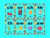 Letter cluster flashcards