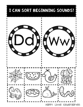 Letter d and w Phonics Pack: Help Students Identify the Difference /d/ and /w/