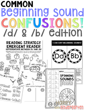 Letter d & b Phonics Pack: Helping Learn the Difference be