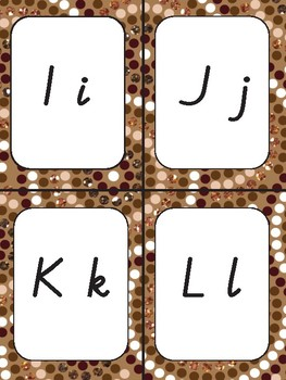 Letter display headings for word wall