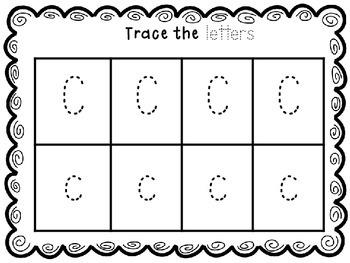 Letter focus- Letter C
