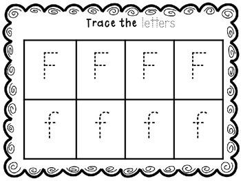 Letter focus: Letter F