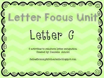 Letter focus: Letter G